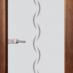 Стъклена врата модел Gravur 13-1 – Златен дъб