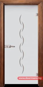 Стъклена врата модел Gravur 13-1 - Златен дъб