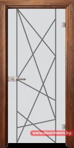 Стъклена врата модел Gravur 13-5 - Златен дъб