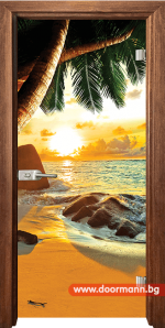 Стъклена врата модел Print 13-14 - Златен дъб