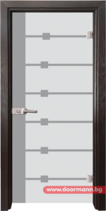 Стъклена врата модел Sand 14-5 - Венге