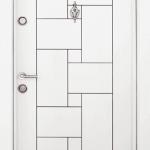 Блиндирана входна врата Т100 – Бяла