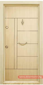 Блиндирана врата Т587 - Зебра